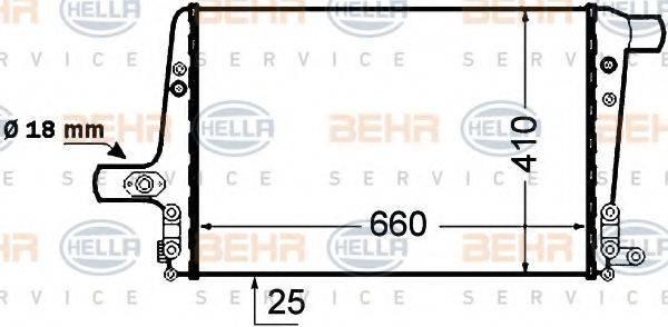 BEHR HELLA SERVICE 8ML376776041 Охладитель наддувочного воздуха