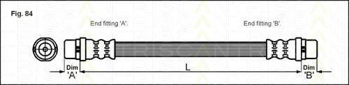 TRISCAN 815029119 Шланг тормозной
