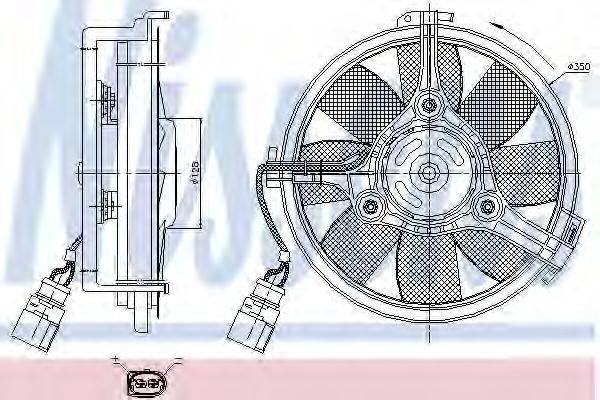 NISSENS 85547 Вентилятор (охлаждение двигателя)