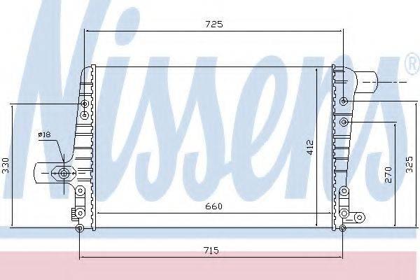 NISSENS 96706 Охладитель наддувочного воздуха