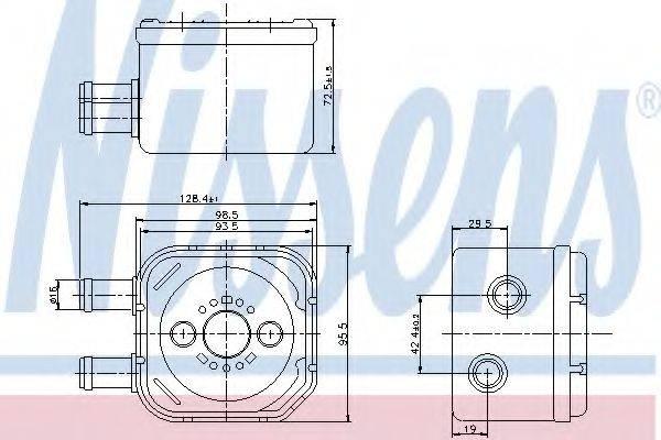 NISSENS 90652 Радиатор масляный