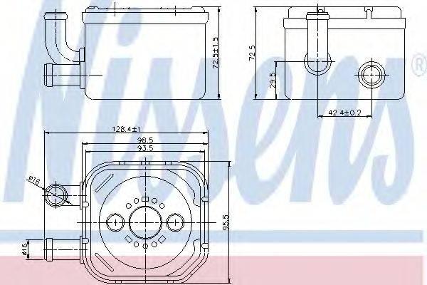 NISSENS 90654 Радиатор масляный