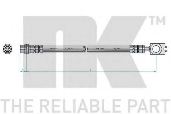 NK 8547112 Шланг тормозной