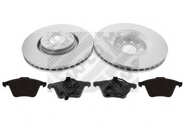 MAPCO 47825HPS Комплект тормозов, дисковый тормозной механизм