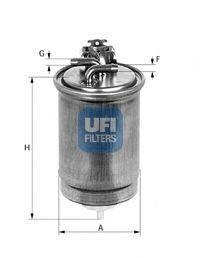 UFI 2442400 Фильтр топливный