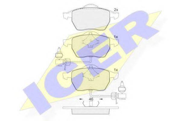 ICER 181362 Колодки тормозные