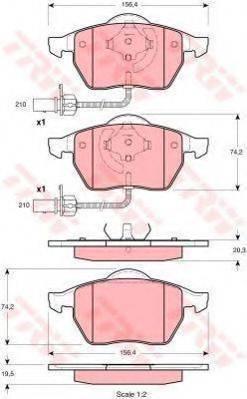 TRW GTD1093 Комплект тормозов, дисковый тормозной механизм