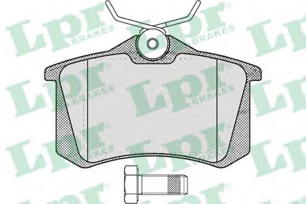 LPR 05P634 Колодки тормозные
