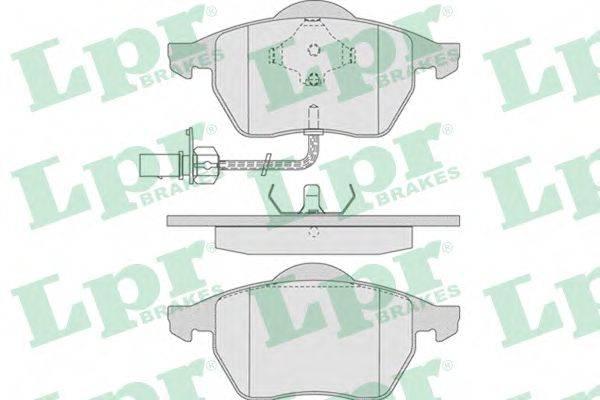 LPR 05P790 Колодки тормозные