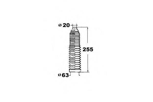 OCAP 1211211 Пыльник рулевой рейки