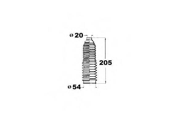 OCAP 1211212 Пыльник рулевой рейки