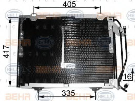 Конденсатор кондиционера HELLA 8FC 351 038-461