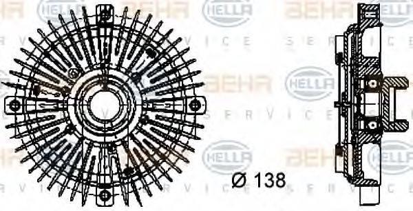 HELLA 8MV376732021 Сцепление вентилятора радиатора