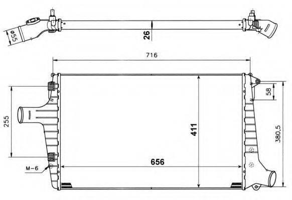 NRF 30118A Охладитель наддувочного воздуха