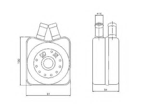NRF 31304 Радиатор масляный