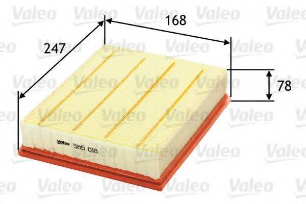 VALEO 585018 Фильтр воздушный двигателя