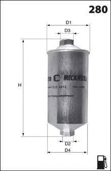 MECAFILTER ELE3577 Фильтр топливный