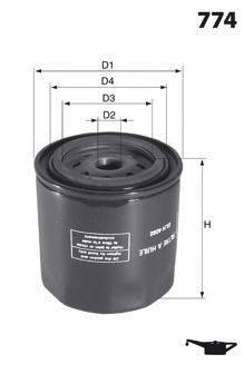 MECAFILTER ELH4280 Масляный фильтр двигателя