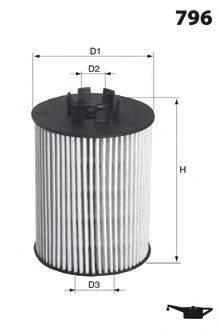 MECAFILTER ELH4283 Масляный фильтр двигателя