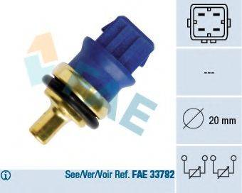 FAE 33780 Датчик, температура охлаждающей жидкости