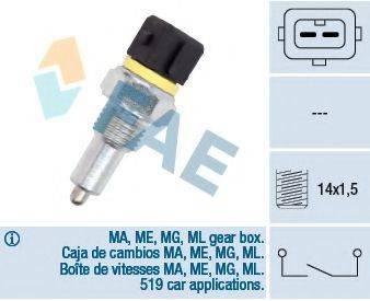 FAE 40570 Выключатель, фара заднего хода