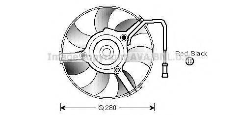 AVA QUALITY COOLING AI7504 Вентилятор (охлаждение двигателя)