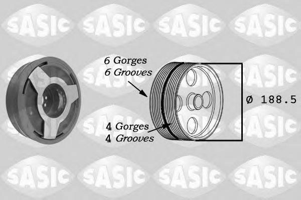 SASIC 9001806 Ременный шкив, коленчатый вал