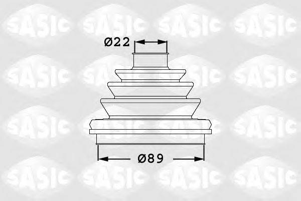 SASIC 1906047 Пыльник ШРУСа (комплект)