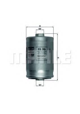 MAHLE ORIGINAL KL36 Фильтр топливный