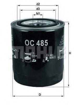 MAHLE ORIGINAL OC485 Масляный фильтр двигателя