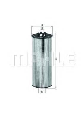 MAHLE ORIGINAL OX164D Масляный фильтр двигателя