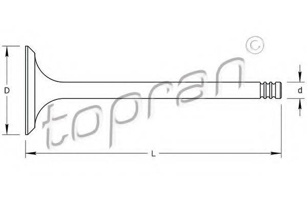 TOPRAN 110208 Выпускной клапан