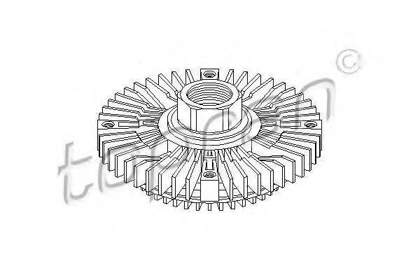 TOPRAN 109608 Сцепление вентилятора радиатора