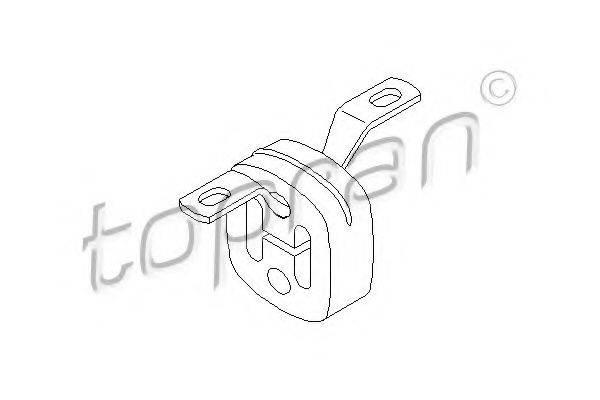 TOPRAN 107224 Крепление глушителя