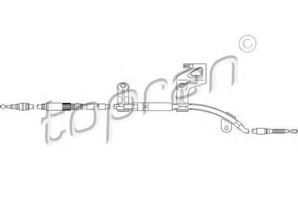 TOPRAN 112151 Трос, тормозной механизм рабочей тормозной системы
