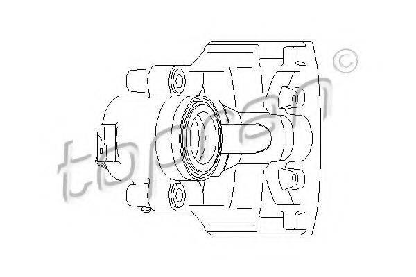 TOPRAN 110289 Суппорт тормозной системы