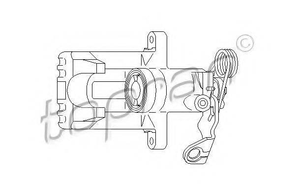 TOPRAN 110284 Суппорт тормозной системы
