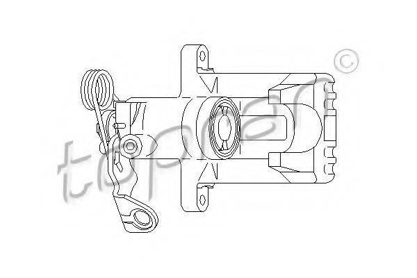 TOPRAN 110285 Суппорт тормозной системы