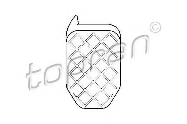 TOPRAN 112313 Накладка на педаль сцепления