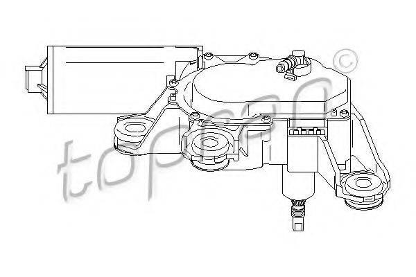 TOPRAN 110741 Моторчик стеклоочистителя