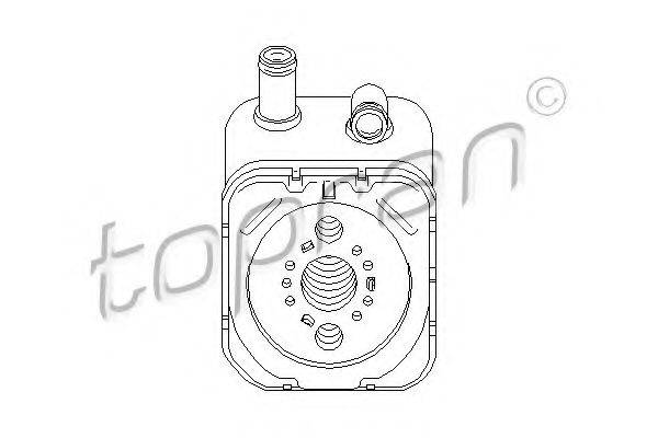 TOPRAN 112860 Радиатор масляный