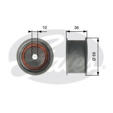 GATES T41227 Паразитный ролик ремня ГРМ