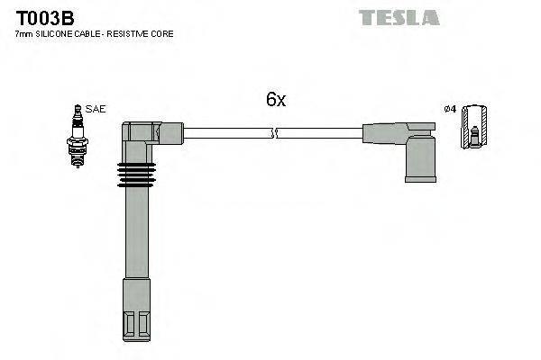 TESLA T003B Провода зажигания