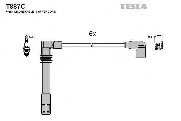 TESLA T887C Провода зажигания