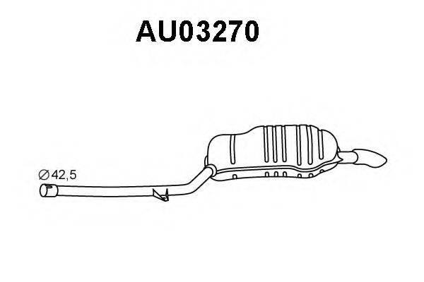 VENEPORTE AU03270 Глушитель выхлопных газов