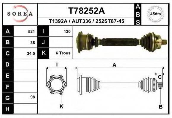 EAI T78252A Полуось