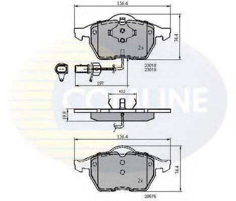 COMLINE CBP11025 Колодки тормозные