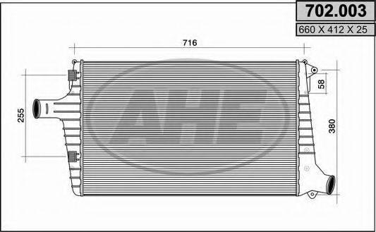 AHE 702003 Охладитель наддувочного воздуха