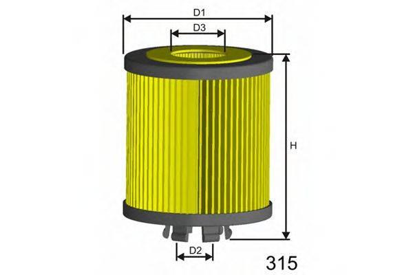 MISFAT L019 Масляный фильтр двигателя