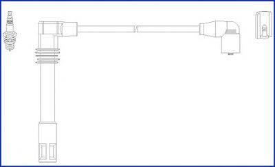 HITACHI 134803 Провода зажигания